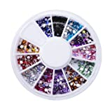 Multiple Color Small Round 1mm Nail Art Rhinestones Glitter Tips Decoration Manicure Wheel