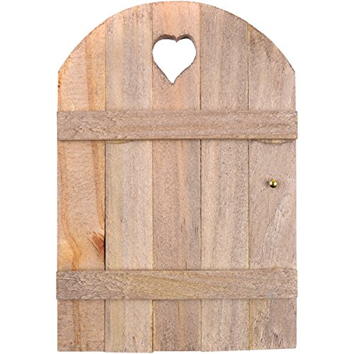 Touch of Nature Mini Fairy Garden Wooden Door, 6 by 4-Inch, Wood