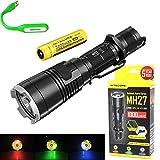 Bundle: ナイトコア Nitecore MH27 CREE XP-L HI V3 LED 1000ルーメン USB充電 戦術的な懐中電灯 アウトドア懐中電灯 高速フラッシュライト ハンディライト18650(3400mAh)電池送付 ホルスター付き