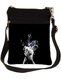Snoogg Hands Shake Cross Body Tote Bag / Shoulder Sling Carry Bag