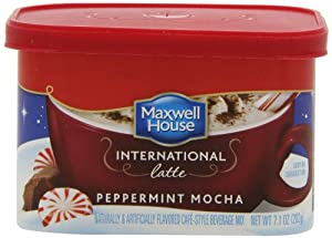 Maxwell House International Latte, Peppermint Mocha, 7.1-Ounce Cans (Pack of 4)