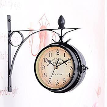 WINOMO European Antique Style Double Side Wall Clock Creative Classic Clocks