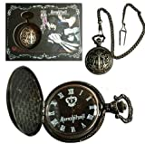Black Butler / Kuroshitsuji Pendant Necklace Pocket Watch with box