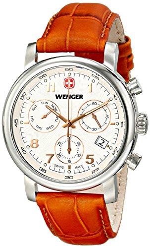Wenger 011043104 Montre bracelet Homme, Cuir, couleur: marron