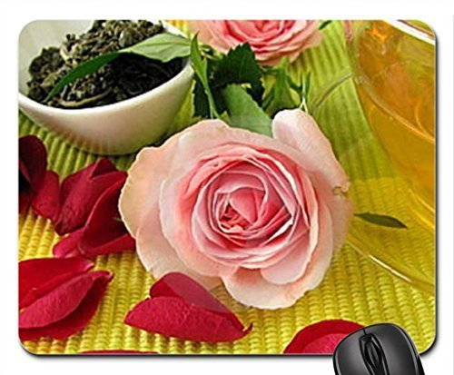 pink-roses-red-petals-and-green-tea-mouse-pad-mousepad-flowers-mouse-pad