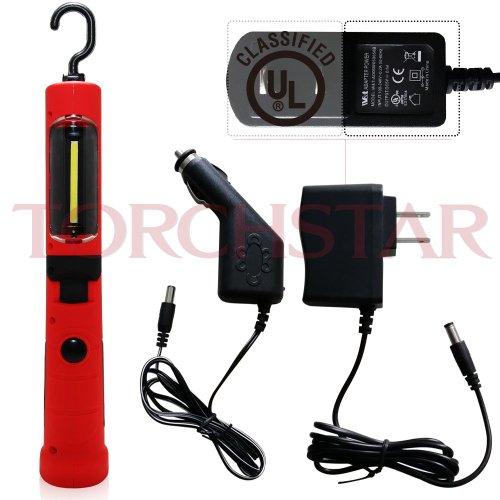 portable cordless rechargeable led work light red. Black Bedroom Furniture Sets. Home Design Ideas