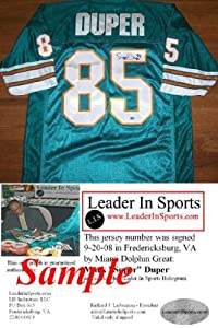 Mark Duper Autographed Jersey - Miami Dolphins by Leader In Sports