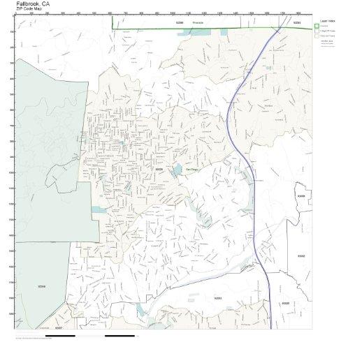 Fallbrook ca Zip Code Map Fallbrook ca Zip Code Map