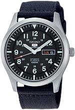 Comprar Seiko SNZG15K1 - Reloj analógico de caballero automático con correa textil negra - sumergible a 100 metros