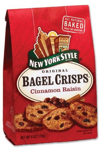 New York Style Cinnamon Raisin Bagel Crisps, 6-Ounce Bags (Pack of 12)