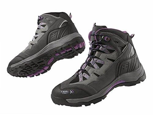 Damen Trekkingschuhe Wanderschuhe Trekking Schuhe Gr. 38 Violett/Grau Atmungsaktiv Wasserdicht