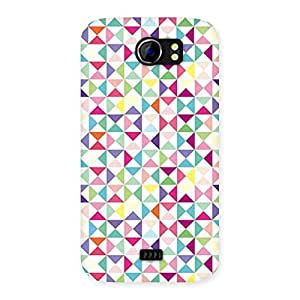 Ajay Enterprises Wo Trangel Color Print Back Case Cover for Micromax Canvas 2 A110