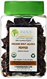 Indus Organic Authentic Indian Bhut Jolokia Chili Pepper (Ghost Pepper) Whole 1.5 Oz Jar (30-36 Peppers)
