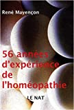 56 annes d'exprience de l'homopathie