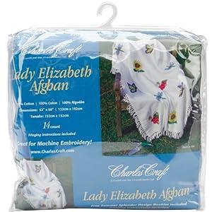 DMC AF7000-0322 Lady Elizabeth Afghan Cotton, Antique White
