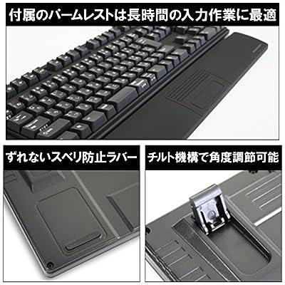 オウルテック Cherry社製「青軸」メカニカルキースイッチ採用 USB/PS2両対応 Nキーロールオーバー対応 109フルキー日本語キーボード ブラック OWL-KB109BM(B)II
