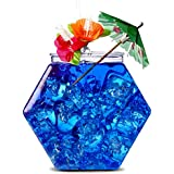 Plastic Hexagonal Cocktail Fish Bowl 30oz - Hexagon Shaped Cocktail Sharer