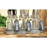 Home Essentials Mason Flatware Caddy w/Tray and Chalkboard Signs