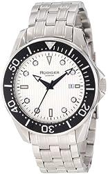 Rudiger Men's R2000-04-001 Chemnitz Black IP Silver Luminous Dial Watch