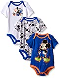 Disney Baby Boys Mickey Mouse 3 Pack Bodysuits