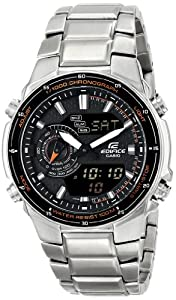 Casio Men's EF-341D-1AVDF Edifice Analog Display Quartz Silver Watch
