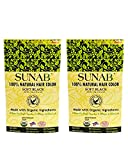 SUNAB-CERTIFIED ORGANIC AND 100% NATURAL SOFT BLACK 2 IN ONE HAIR COLOR