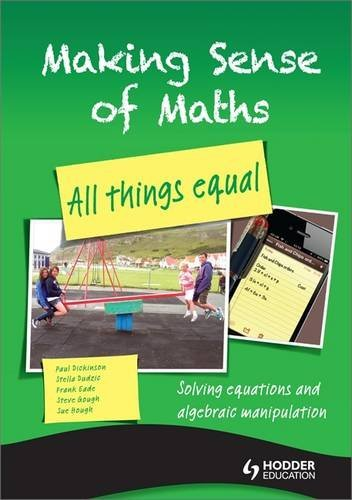 Making Sense of Maths: All Things Equal