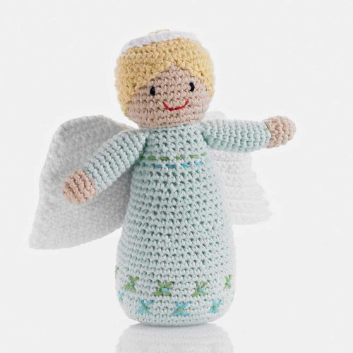 Pebble: Handmade Angel Rattle