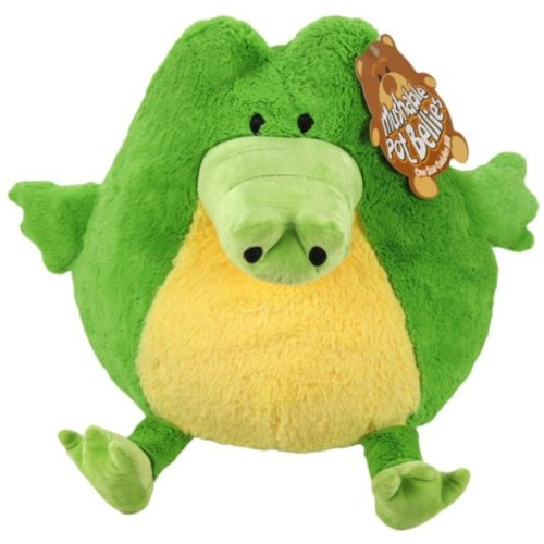 Mushable Pot Bellies Green Crocodile Plush