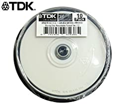 10 TDK Blu Ray Discs 50 GB BD-R DL 4X Speed High Grade Bluray Dual Layer Original Spindle