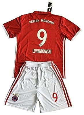 Lewandowski #9 Bayern Munich 2016-2017 Kids/Youths Home Soccer Jersey & Shorts