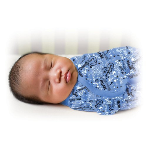 Summer Infant Swaddleme Blanket, Sketchy Guitars (Discontinued by Manufacturer) - 1