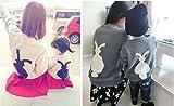 [favorite!] ふわふわ しっぽ付き ウサギ プリント セーター 子供服 トップス ママとおそろいも! ランキングお取り寄せ