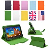 HDE Tablet Case 7 Inch Universal Folio Leather Flip Cover- Green