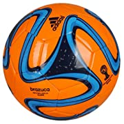 adidas Brazuca Glider World Cup Replica Soccer Ball (5) (Orange)