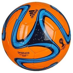 Buy adidas Brazuca Glider World Cup Replica Soccer Ball (5) (Orange) by adidas