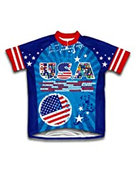 U.S.A. Short Sleeve Cycling Jersey for Women