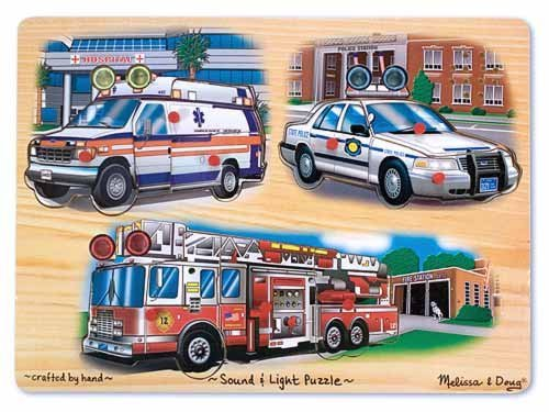 Cheap Melissa & Doug Emergency Vehicles Light and Sound Puzzleby Melissa and Doug (B003L3TT3W)