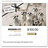 Amazon Gift Card - Email - From All of Us