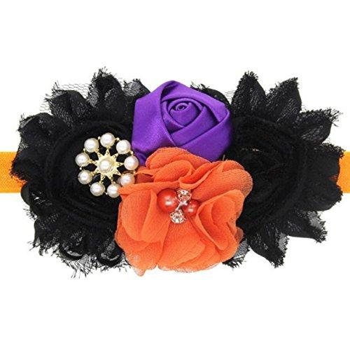 FAPIZI Baby Girl Halloween Headdress Elastic Hair Band (Orange) (How To Make A Scarecrow Mask)