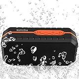 Sunvito Bluetooth2.1 スピーカー防水型 通話ハンズフリー 完璧な音質IPX6防水、防塵, 防投げ (オレンジ)