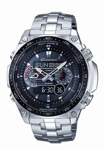 Casio Men's Solar Powered Radio Controlled Combi Bracelet Watch ECW-M300EDB-1AER
