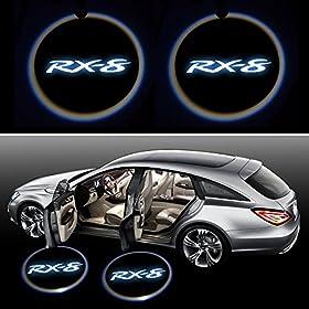 Beon Pack of 2 Mazda RX-8 Logo Wireless LED Car Door Light