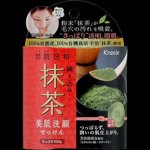 潤肌日和 美肌洗顔せっけん(練り込み抹茶)100g