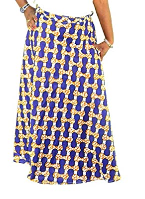Fashion Island Womens African Skirt Wax Style Material Dashiki Afro Centric