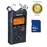 Tascam DR-40 2015 Version 2 Linear PCM Recorder with 4GB SD Card with 1 Year Free Extended Warranty