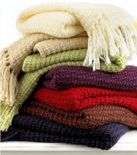 """Martha Stewart Textured Yarn Blanket Throw 50"""" X 60"""" Navy front-929468"""