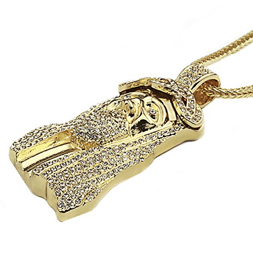 [Jesus pendant head high quality alloy electroplating accessories factory direct (Golden)] (Custom Costumes Jewelry Wholesale)