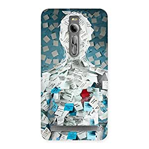 Gorgeous Office Paper Back Case Cover for Asus Zenfone 2