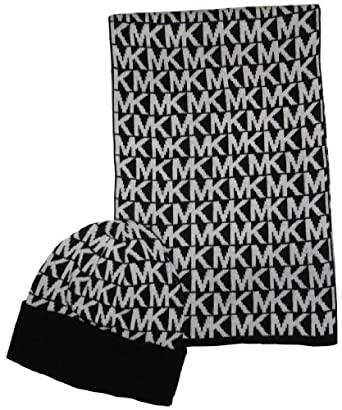 michael kors s 2 scarf and hat set black at